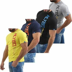 Mens-HLY-EQPT-Printed-T-Shirt-100-Cotton-Gym-Athletic-Training-Tee-Top-Summer