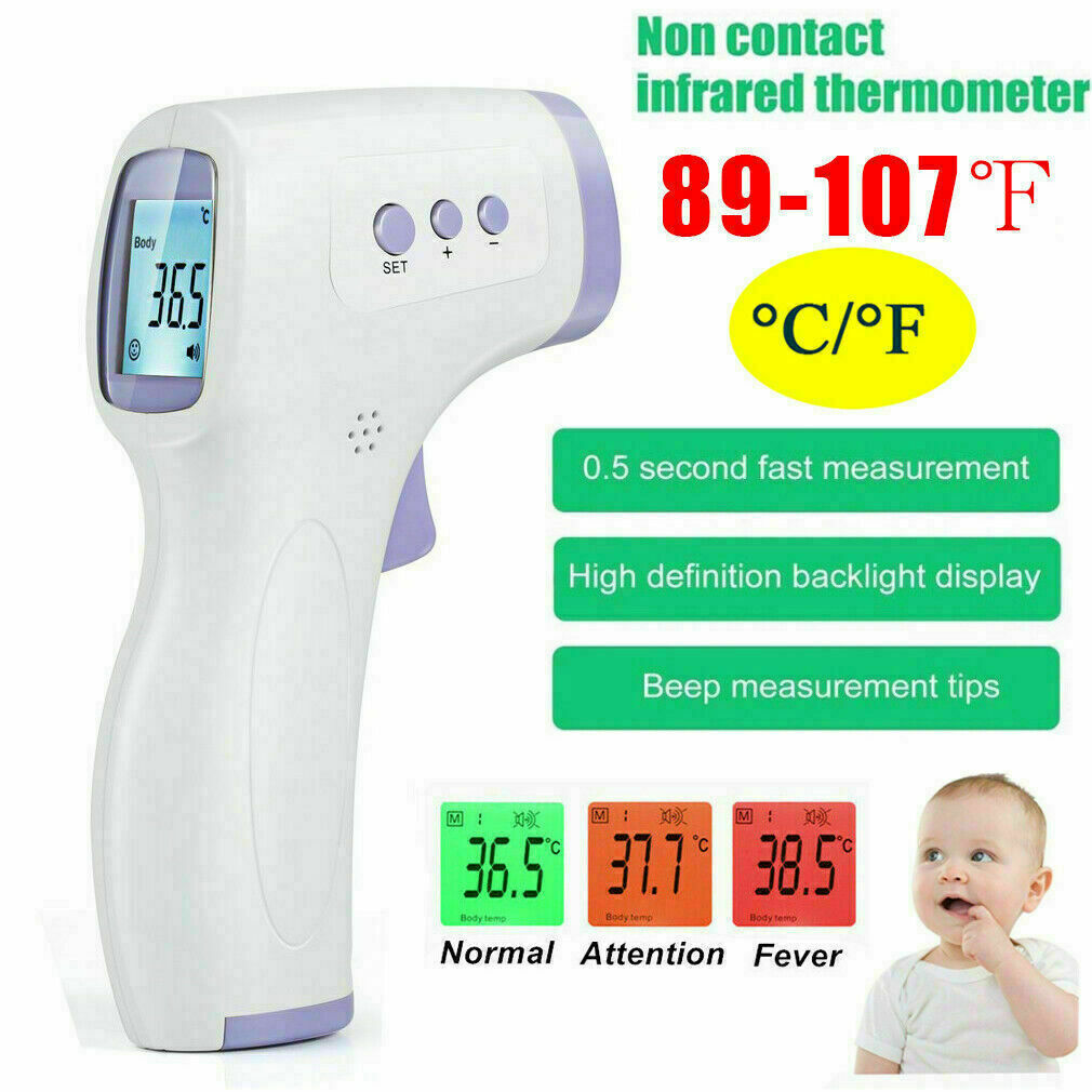 No Touch Infrared Digital Forehead Thermometer Baby Adult Body Gun Fast Shipping