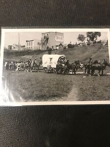 real-photo-Postcard-Souris-First-Nations-Cowboy-Parade-Horse-Picture-A1