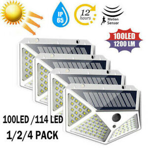 Solar-Power-PIR-Motion-Sensor-Wall-Lights-100-LED-Outdoor-Garden-Waterproof-Lamp