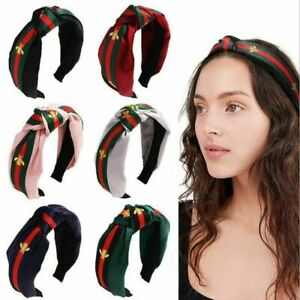 Women-Hairband-Headband-Headwrap-Hoop-Turban-Striped-Bee-Hair-Band-Accessories