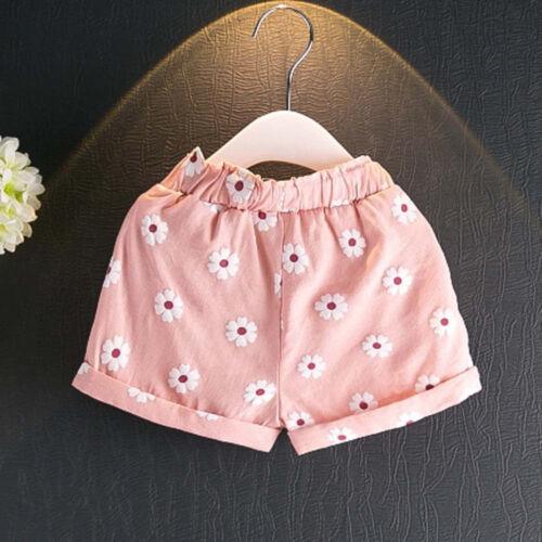 Toddler Kids Baby Girls Outfits Clothes T-shirt Vest Tops+Shorts Pants 2PCS XB
