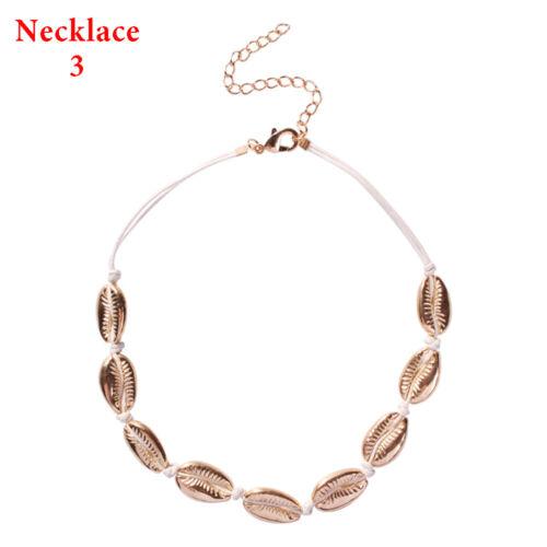 Women Cowrie Choker Seashell Conch Shell Necklace Bracelet Summer Beach Jewelry