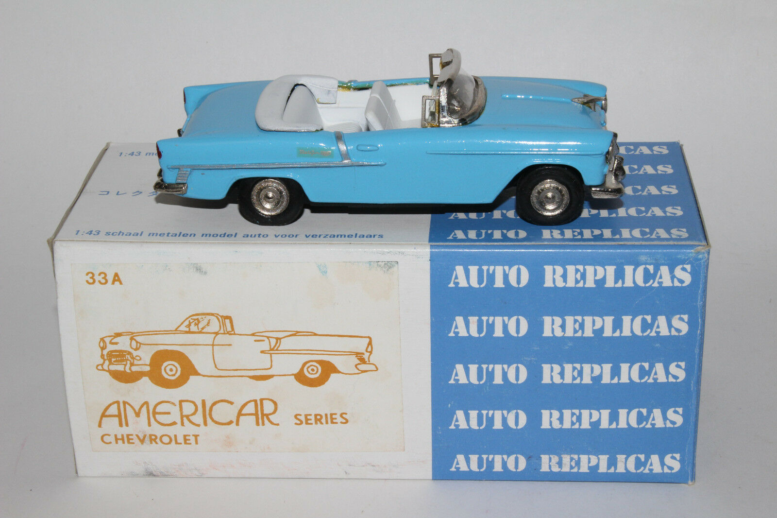 1955 Chevrolet Belair Convertible, Auto Réplique Modèles,en Boîte