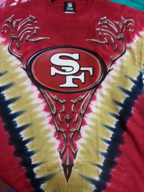 San Francisco 49ers NFL Team Apparel Mens Tie Dye V-dye Short Sleeve ... 58c25c5b3