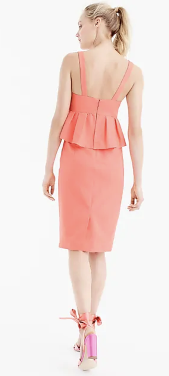 168 J.Crew Peplum dress in in in classic faille-Cotton silk-Navy-Item G6482-size 4 11f7a6