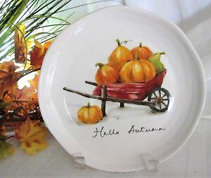 4x-Pier-1-Hello-Autumn-Pumpkins-Gourds-Salad-Plates-Lunch-Dessert-Ironstone-9-034