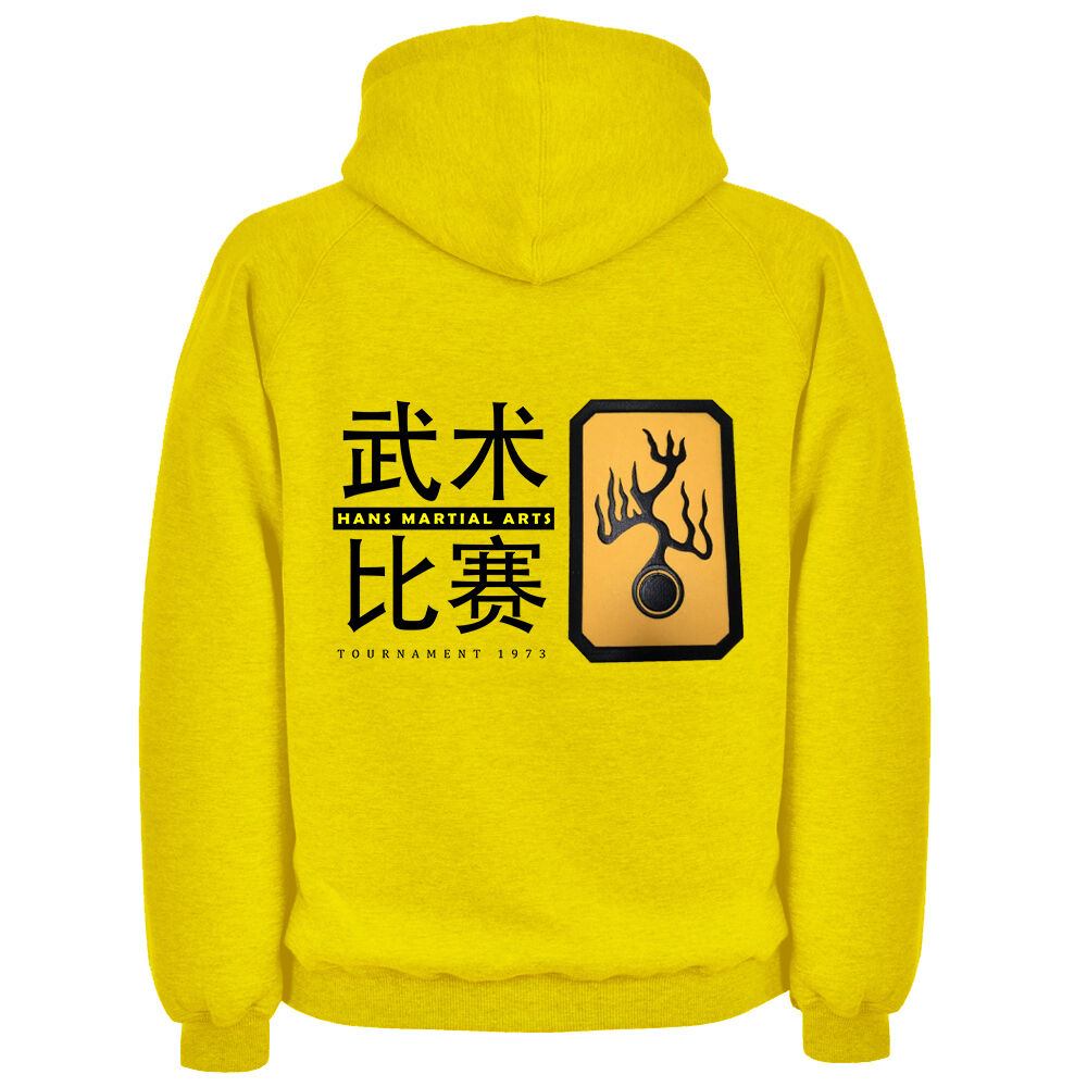 Bruce Lee Hans Island Tournament EMBROIDERED PATCH Hoodie Enter The Dragon MMA