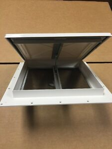 New white 9 x 9 mini roof vent rv bathroom pop up cargo trailer camper boat ebay for How to replace rv bathroom vent cover