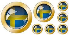 Kfz-Aufkleber Flagge Schweden Set KA