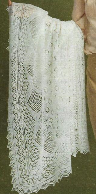 Baby Cobweb Heirloom Wedding Ring Shawl Knitting Pattern  812