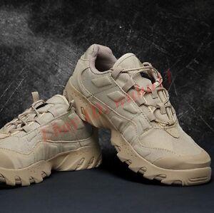 Tácticas aire al Hombres Zapatos libre Desierto Moda Redonda Botas cordones Punta con de militares combate UzUrxw