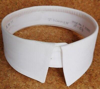 "Vintage starched shirt collar size 15"" officer's detachable stiff dress RMM No 1"