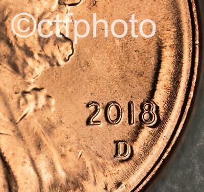 2018-D AU MAJOR DDO DDR Lincoln Shield Cent Error Coin US Mint Penny Dbl