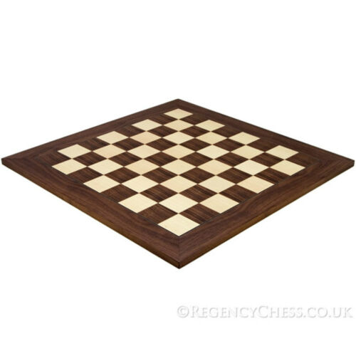 21.7 Inch Montgoy Palisander and Maple Deluxe Chess Board