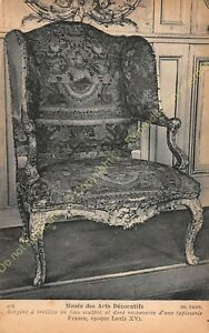 Postcard-Arts-Decorative-Furniture-Bergere-With-Earrings-Period-Louis-XV-Edit-ND