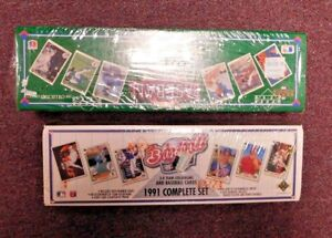 Details About 1990 1991 Upper Deck Baseball Card Complete Factory Sets New Sealed 2 Set Lot