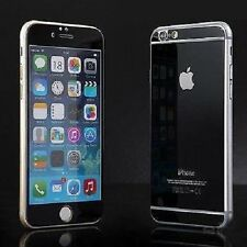 Black Front+Back Mirror Effect Tempered Glass Screen Protector Apple iPhone 5 5s