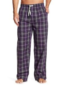 7abfaa20c6a Psycho Bunny Men s Eggplant Plaid Purple Woven Lounge Pajama Pants ...