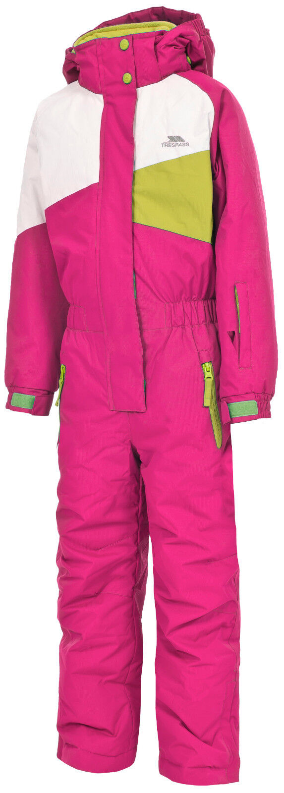 Trespass  Wiper Girls 1 Piece Kids Ski Suit, Bubblegum  best prices