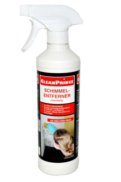 Cleanprince Moho Eliminador Cloro Al Tamaño 500ML Mancha de Moho Setas Bacterias