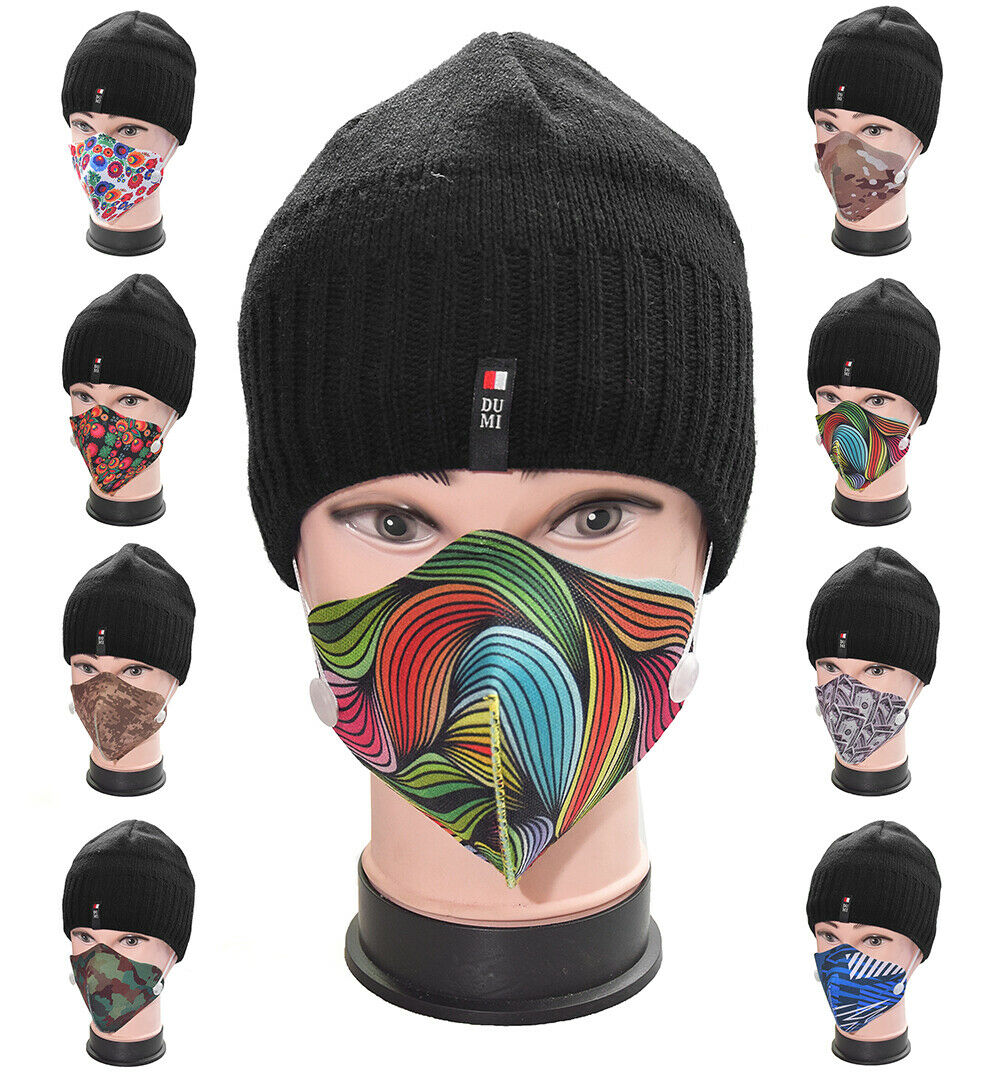 Poly Cotton Washable Dual Layer Face Mask with Filter interlining Many Patterns
