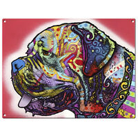 Mastiff Dog Dean Russo Pop Art Sign Pet Steel Wall Decor 16 X 12