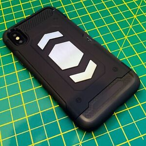 Apple-iPhone-10-Rugged-Case-Carbon-Detailing-Protective-Bumper-BLACK