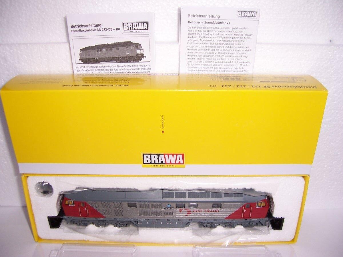 BRAWA 41429 ~ ~ ~ TRENO BR 232  EKO trans  EP. V AC digitale con sound h0 NUOVO OVP 8b6ce0
