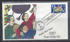 #3120 First Day Cover, RKA Hand painted cachet, #59 of 70, Yr of the Ox