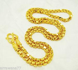 Chain 22K 23K 24K THAI BAHT GOLD GP NECKLACE 24 Jewelry N 80 eBay