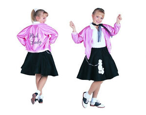 CHILD PINK LADIES LADY GIRL JACKET 50S 50'S SATIN GREASE ...