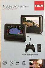 """Rca 7"""" Dual Screens Portable Dvd/cd Player With Game Pad Travel Car Adapter"""