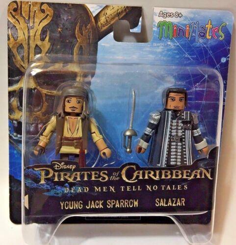 Pirates of Caribbean Minimates Dead Men No Tales YOUNG JACK SPARROW /& SALAZAR