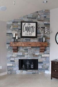 "Custom 66"" New Pine Hand Hewn Rustic Barn Beam Fireplace ..."