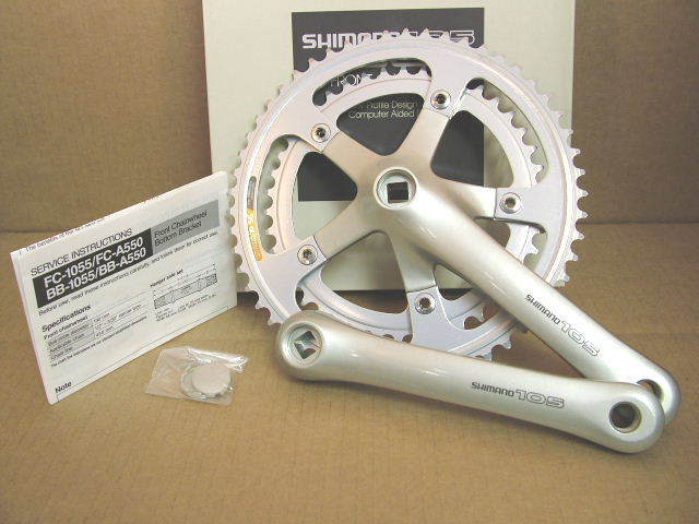 NOS Shimano 105 Crankset (FC-1055) w 170mm Crankarms and 52x42 Chainrings
