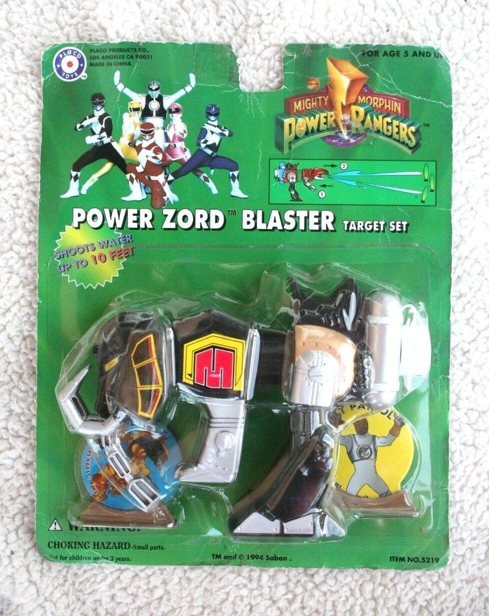 POWER RANGERS  ZORD BLASTER TARGET SET (PLACO TOYS, 1993). BRAND NEW IN BLISTER