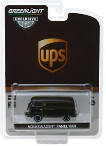 1-64-GreenLight-HOBBY-EX-UPS-Volkswagen-VW-Panel-Delivery-Van-NIP