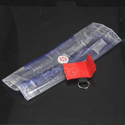 RCR réanimation Masque Anneau porte-clés urgence Shield Face First Aid sauvetage