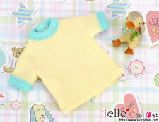 ☆╮Cool Cat╭☆85.【NR-2】Blythe/Pullip short sleeve tee # Yellow/Cyan