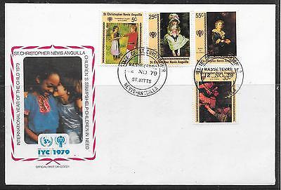 Briefmarken Motive Initiative Weihnachten 1979-unicef/ St.christopher-nevis-anguilla Minr 383/86 ** KöStlich Im Geschmack