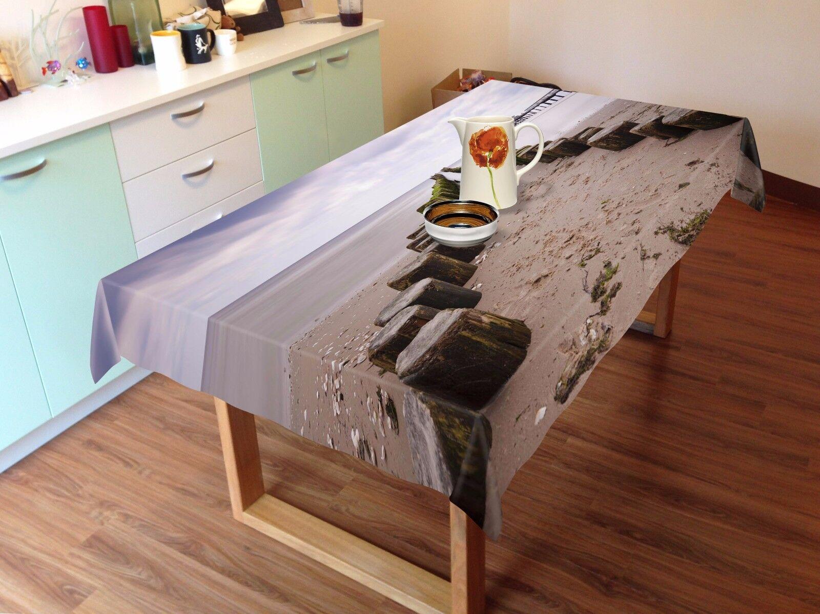 3D Beach Tablecloth Table Cover Cloth Birthday Party AJ WALLPAPER UK Lemon