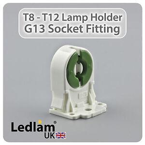 Ledlam Tube T8 T12 Light Socket Fitting Lamp Holder for LED + ...