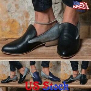 Womens-Pointed-Toe-Casual-Mules-Loafers-Low-Heel-Slip-On-Flat-Single-Shoes-US