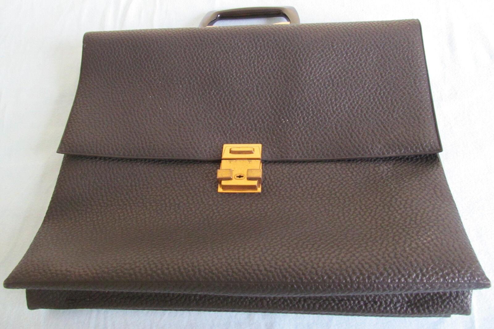 Aktentasche IKA de Luxe  schwarz  gut erhalten  mit Schlüssel  Leder | Exquisite Verarbeitung  | Verschiedene Arten und Stile  | Zuverlässiger Ruf