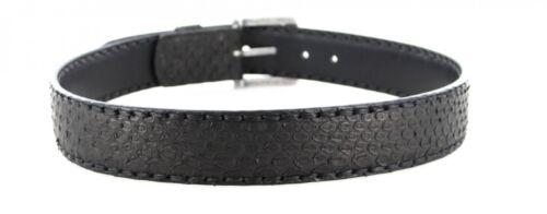 Sendra Boots Gürtel 1016 Python Schwarz matt Ledergürtel