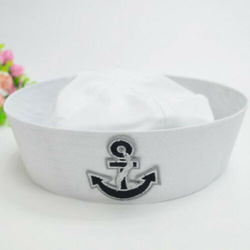 New White Honourable Navy Hat Sailor Seaman Cap Costume Party For Kid And Adult