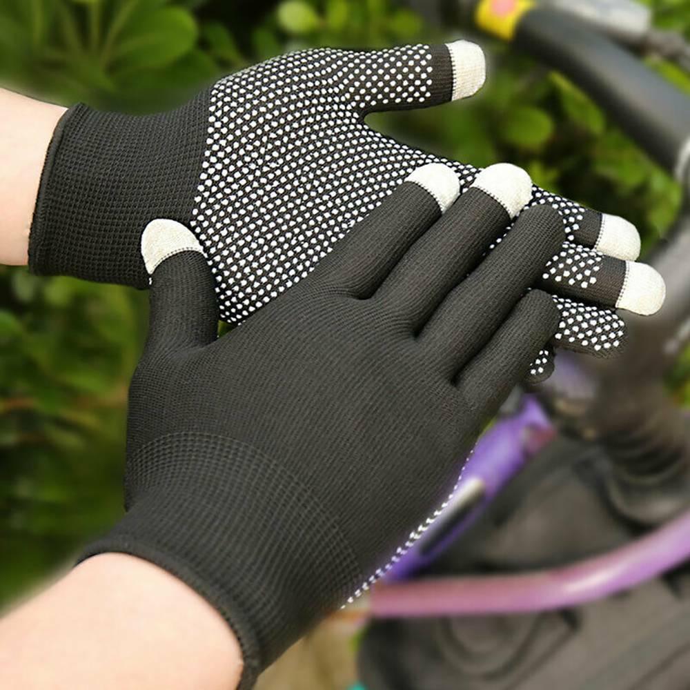 1 Pair Elastic Anti-skid Wrist Gloves Thin Sun Protection Sport Touch Screen ~