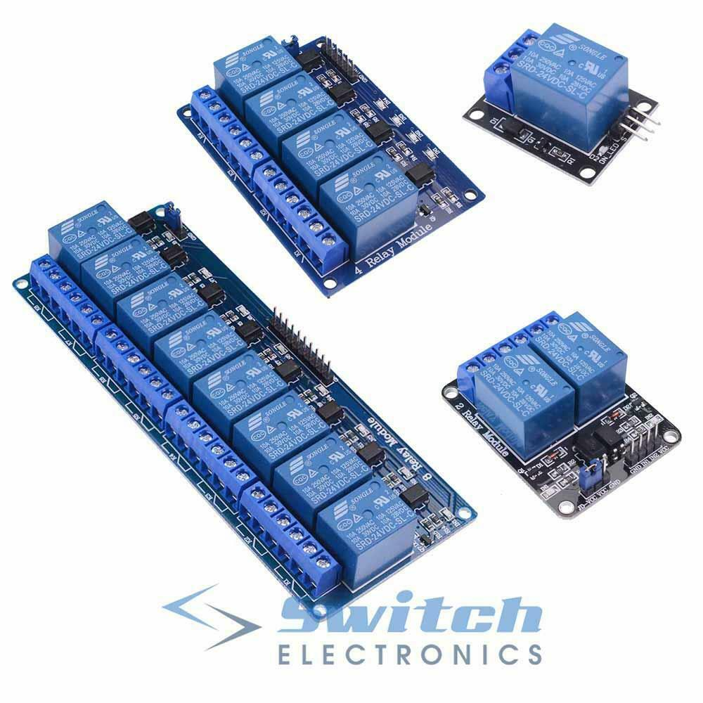 1 2 4 or 8 Channel 24V Relay Board Module Optocoupler
