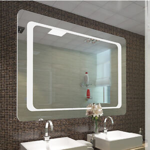 Extra Large Bathroom Wall Mirror Led Lighted Unit Sensor Demister Clear Glass Ce Ebay